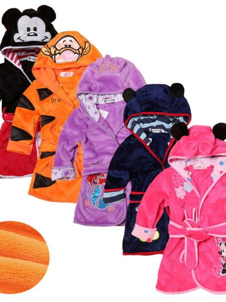 Cartoon-Kids-Robes-Flannel-Child-Boys-Girls-Robes-Lovely-Animal-Hooded-Bath-Robes-Long-Sleeve-Baby-0